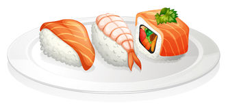 A plate of sushi Royalty Free Stock Photo