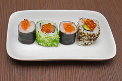 Plate sushi Royalty Free Stock Photo