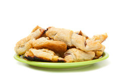 A plate of sweet cookies with lemon jam and chocolate Royalty Free Stock Photography