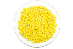 Plate of sweet corn Stock Photography