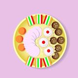 Plate With Sweets Candy, Biscuit, Fruit Jelly, Zephyr Top View Stock Photography