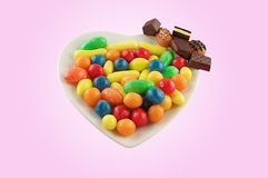 A plate of sweets Stock Image