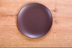 Plate on the table Royalty Free Stock Photos