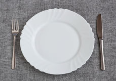 Plate on table Royalty Free Stock Images
