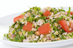 Plate of tabouli salad Royalty Free Stock Photos