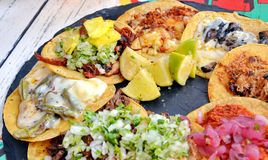 Plate with taco. Plate with mexican food taco Royalty Free Stock Photo