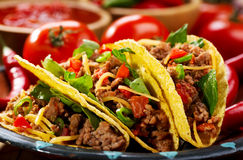 Plate of tacos Royalty Free Stock Image