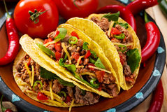 Plate of tacos Royalty Free Stock Photos