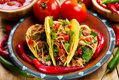 Plate of tacos Stock Photography