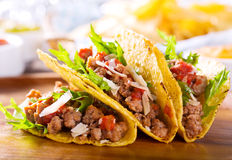 Plate of tacos Royalty Free Stock Photography