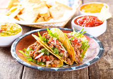 Plate of tacos Stock Image