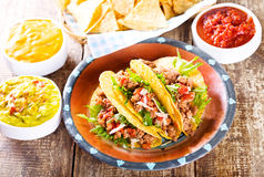 Plate of tacos Stock Photos