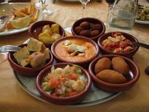 Plate of tapas royalty free stock photos