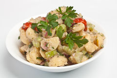 Plate of tasty potato salad Royalty Free Stock Photos