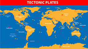 Plate tectonics vector illustration