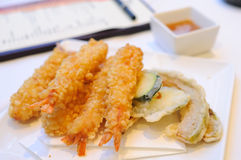 Plate of tempura Stock Photography