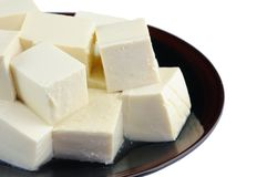 Plate of tofu Royalty Free Stock Photos