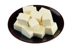 Plate of tofu Royalty Free Stock Images