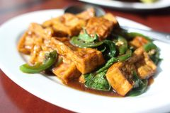 Plate of tofu Royalty Free Stock Image