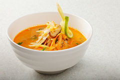 Plate of Tom Yam soup Royalty Free Stock Photos