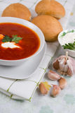 Plate tomato soup Royalty Free Stock Images