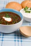 Plate tomato soup Stock Photos