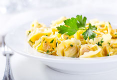 Plate of tortellini Royalty Free Stock Images