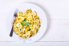 Plate of tortellini with parsley Royalty Free Stock Image