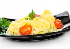 Plate with tortellini Royalty Free Stock Image