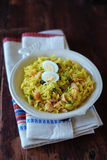 Plate of traditional scottish breakfast dish kedgeree Stock Photo