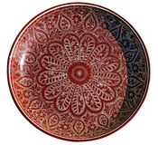 Plate with traditional uzbek ornament Royalty Free Stock Images