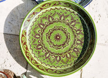 Plate with traditional uzbek ornament Stock Photo