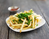 Plate of truffle fries Royalty Free Stock Images