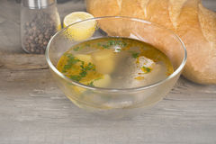 Plate Tsar's fish soup Royalty Free Stock Images