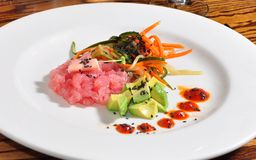 Plate of Tuna Tartare Royalty Free Stock Photo