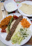 Plate of Turkish kebab meat. Royalty Free Stock Photos