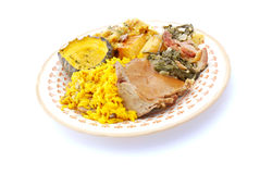 Traditional African Sunday lunch Stock Photography