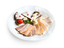 Plate with Ukrainian appetizers Royalty Free Stock Images