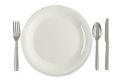 Plate and utensils Royalty Free Stock Images