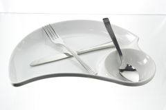 Plate with Utensils Stock Image