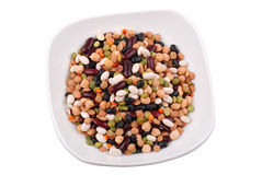 The plate with various bean Royalty Free Stock Photo