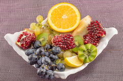 Plate of various fruit Royalty Free Stock Images