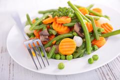 Plate of vegetable Stock Photos