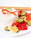 Plate of vegetable fried rice Royalty Free Stock Images