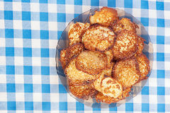 Plate with vegetable fritters Stock Image