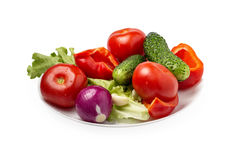 Plate with vegetables Royalty Free Stock Photo