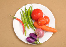 Plate of vegetables Stock Photos