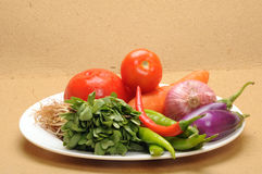 Plate of vegetables Royalty Free Stock Images