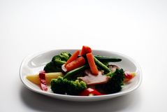 Plate of vegetables Stock Image