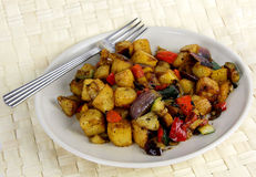 Plate of vegetables from the Mediterranean Royalty Free Stock Photo